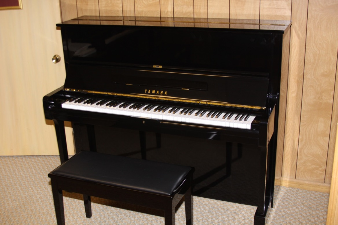 Two Yamaha Upright Studio Pianos